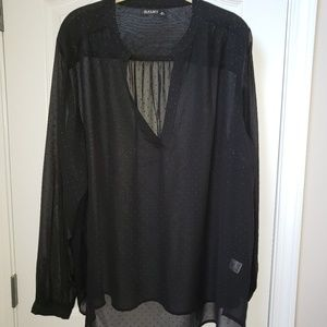 NWT a.n.a.black sheer blouse 3X 26W